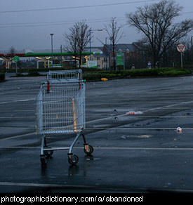 Photo of abandoned shopping carts