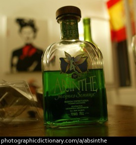 Photo of a bottle of absinthe