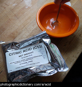 Photo of citric acid