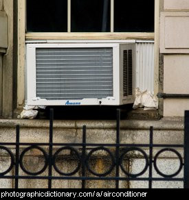 Photo of a window airconditioner
