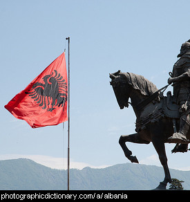 Photo of the Albanian flag