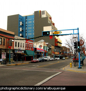 Photo of downtown Albuquerque