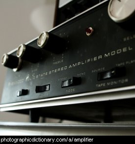 Photo of an amplifier