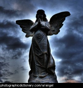 Photo of a statue of an angel