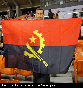 Photo of the Angolan flag