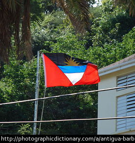 The Flag of Antigua and Barbuda.