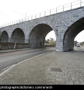 Photo of an arched bridge