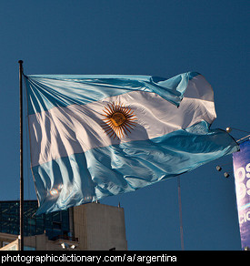 Photo of the Argentinian flag