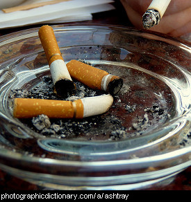 Photo of an ashtray