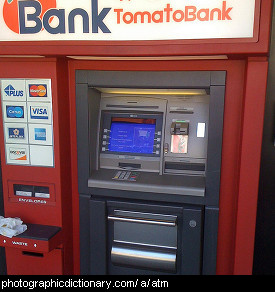 Photo of an ATM