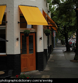 Photo of an awning