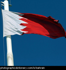 Photo of the Bahraini flag