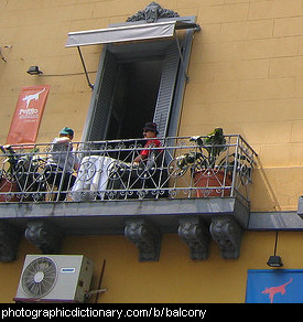 Photo of a balcony
