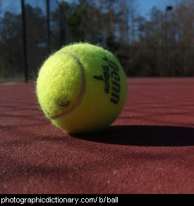 Photo of a tennis ball