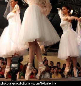 Photo of ballerinas dancing