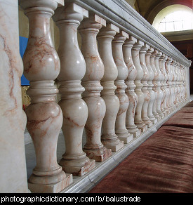 Photo of a balustrade
