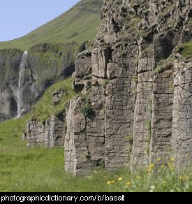 Photo of some basalt columns