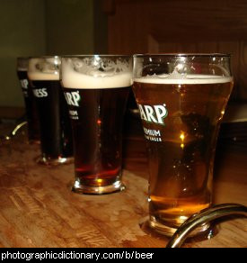 Photo of glasses of beer.