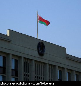 Photo of the Belarusian flag