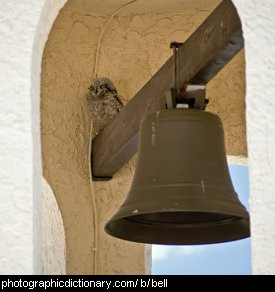 Photo of a church bell