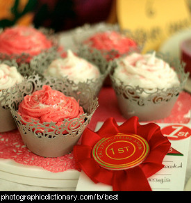 Photo of prize winning cupcakes