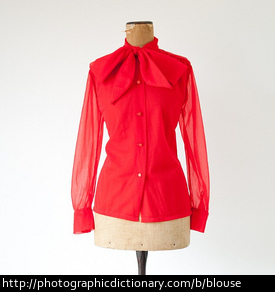 A red blouse.