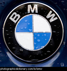 Photo of a BMW badge