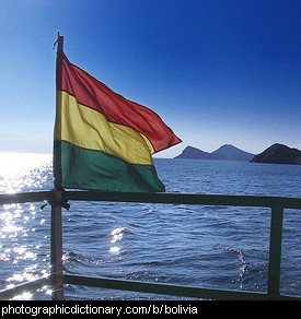 Photo of the Bolivian flag