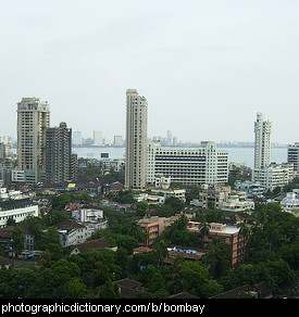 Photo of the Mumbai or Bombay skyline