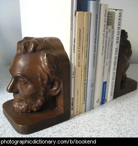Photo of books and bookends