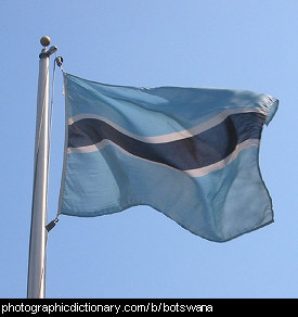 Photo of the Botswana flag