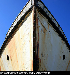 Photo of the bow of a ship