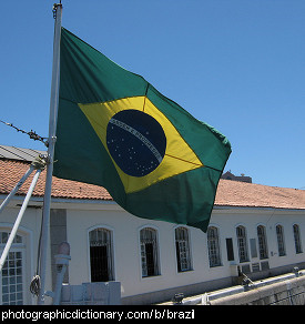 Photo of the Brazilian flag