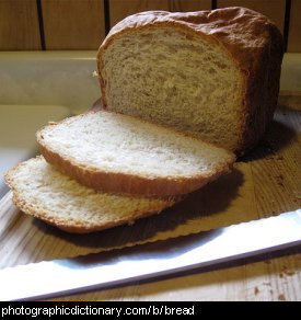 Photo of sliced bread