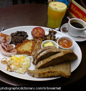 Photo of a breakfast meal