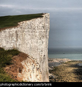 Photo of the brink of a cliff