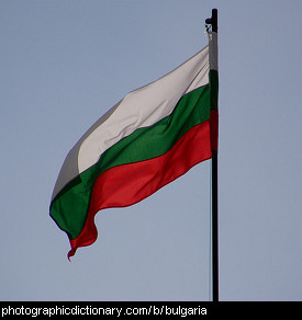 Photo of the Bulgarian flag