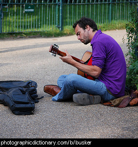 Photo of a busker