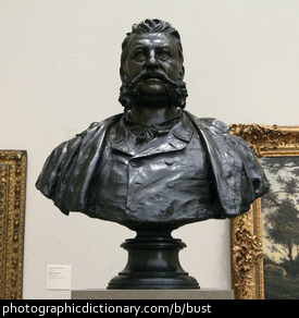 Photo of a bust statue