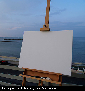 Photo of a blank canvas