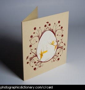 Photo of a greeting card