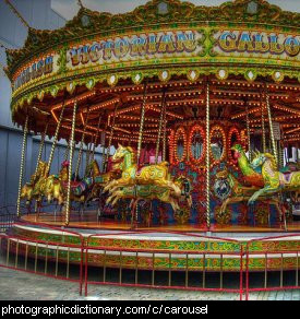 Photo of a carousel