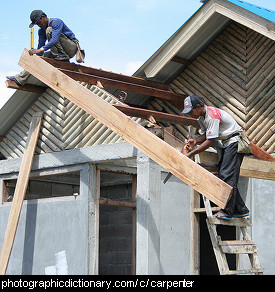 Photo of carpenters at work