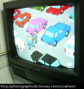 Cartoons on television