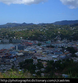 A photo of Castries in St Lucia.