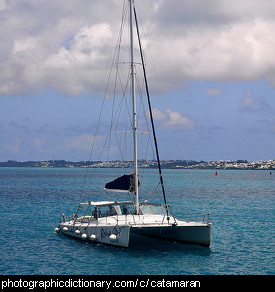 Photo of a catamaran