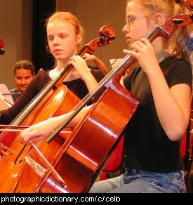 Photo of a girl playing the cello