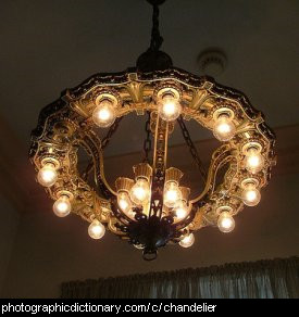 Photo of a chandelier