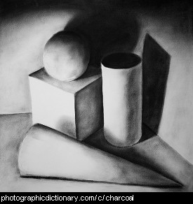 Photo of a charcoal drawing