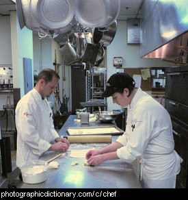 Photo of chefs at work